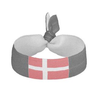 Denmark Flag Ribbon Hair Tie