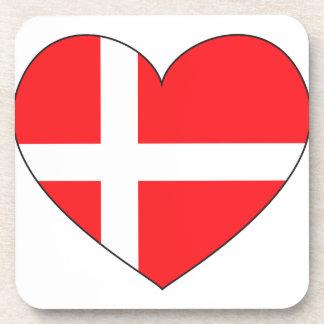 Denmark Flag Simple Drink Coaster