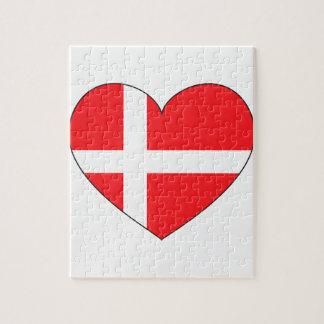 Denmark Flag Simple Jigsaw Puzzle