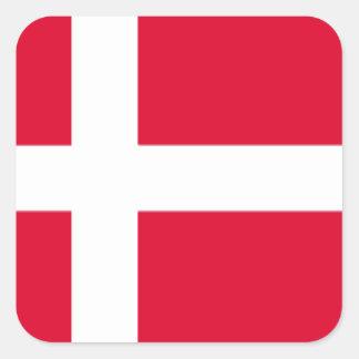 Denmark Flag Square Sticker