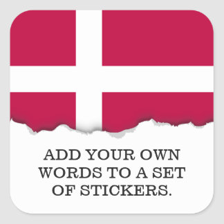 Denmark Flag Square Sticker
