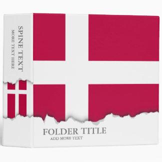 Denmark Flag Vinyl Binder