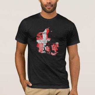 Denmark Flagcolor Map T-Shirt