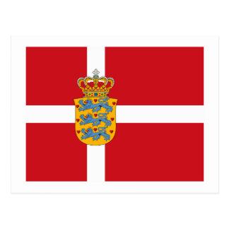 Denmark Flagw COA Postcard