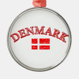 Denmark football design metal ornament