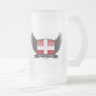 DENMARK FROSTED GLASS BEER MUG
