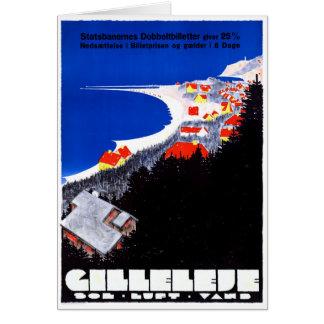 Denmark Gilleleje Restored Vintage Travel Poster Card