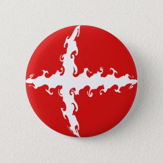 Denmark Gnarly Flag 2 Inch Round Button