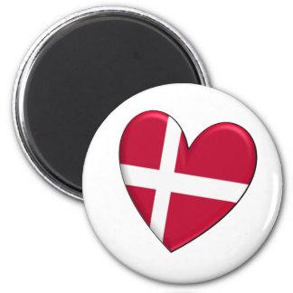 Denmark Heart Flag Magnet