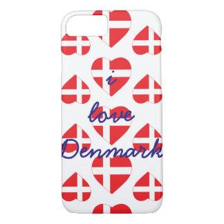 DENMARK HEART SHAPE FLAG iPhone 8/7 CASE
