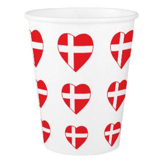DENMARK HEART SHAPE FLAG PAPER CUP