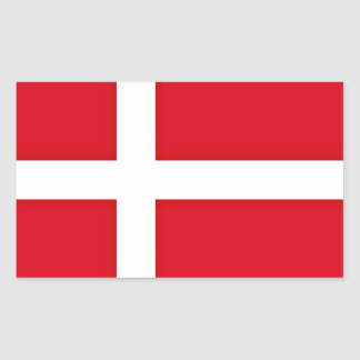 Denmark Inspired Flag Pattern Sticker