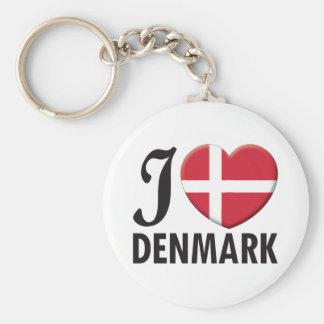 Denmark Love Keychain