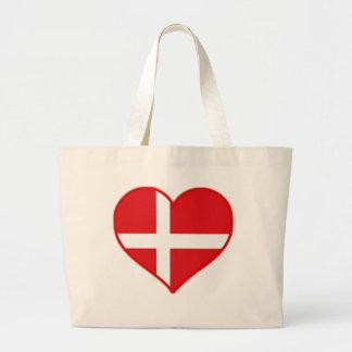 Denmark Love Large Tote Bag