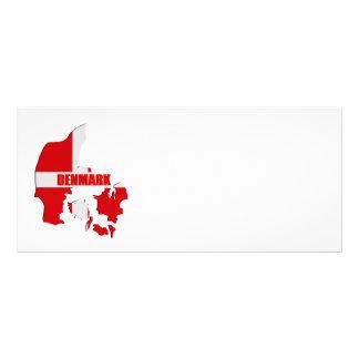 Denmark map full color rack card