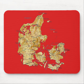 Denmark Map Mousepad