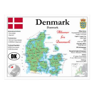 Denmark map Postcard