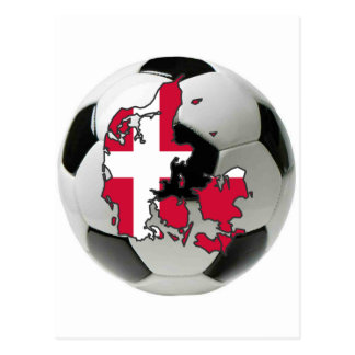 Denmark national team postcard
