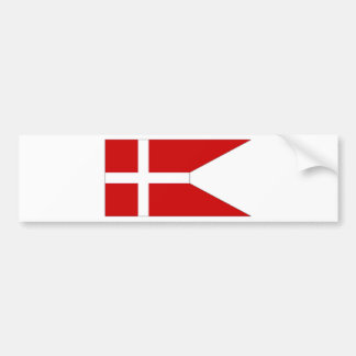 Denmark Naval Ensign Bumper Sticker