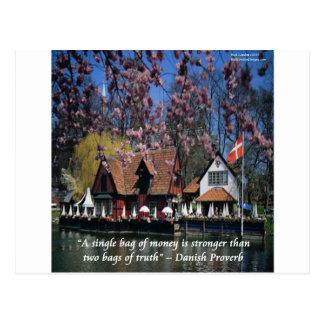 Denmark Photo & Famous Proverb Postcard