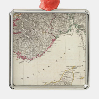 Denmark, pt of Norway Silver-Colored Square Ornament