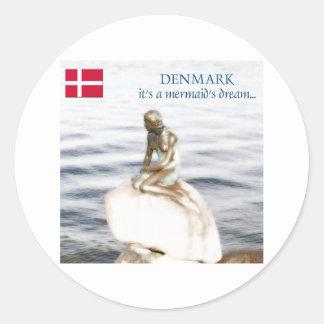 denmark round sticker