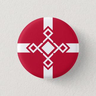 Denmark Rune Cross Badge 1 Inch Round Button