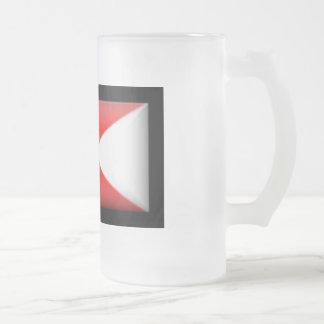 Denmark-Split Flag Frosted Glass Beer Mug