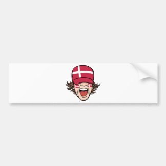 Denmark Sports Fan Bumper Sticker