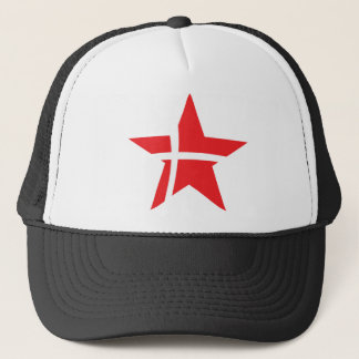 denmark star icon trucker hat