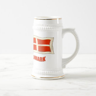 Denmark vintage flag Dansk fans gifts Beer Stein