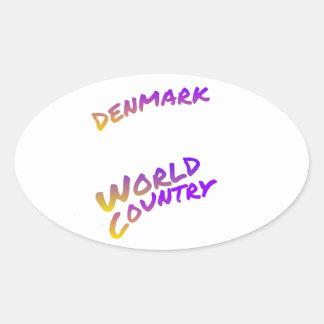 Denmark World Country tinted text art Sticker