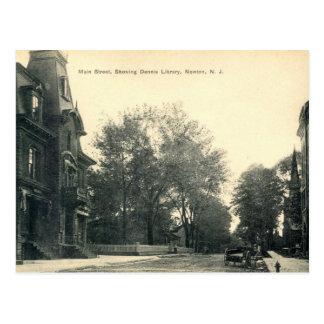 Dennis Library, Newton New Jersey 1908 vintage Postcard