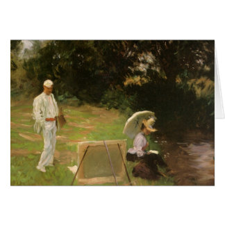 Dennis Miller Bunker Painting at Calcot by Sargent Card
