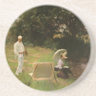 Dennis Miller Bunker Painting at Calcot by Sargent Drink Coaster