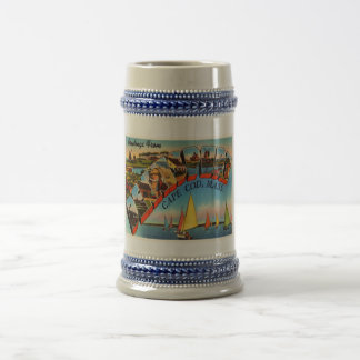 Dennisport Cape Cod Massachusetts MA Old Travel Beer Stein
