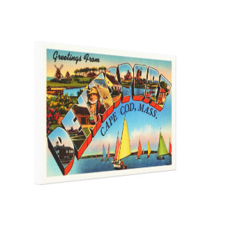Dennisport Cape Cod Massachusetts MA Old Travel Canvas Print