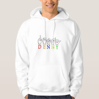DENNY FINGERSPELLED ASL NAME SIGN HOODIE
