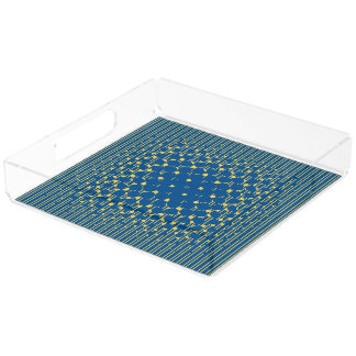 Density in Lapis Blue & Primrose Yellow Acrylic Tray