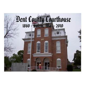 Dent County Courthouse, 1860 - Salem, Mo. ... Postcard