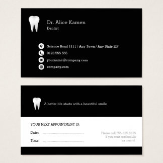 Dental Appointment Card | Classic Dentist