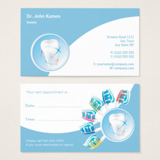 Dental Appointment Card | Dentist