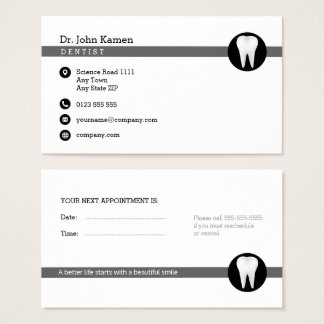 Dental Appointment Card | Professional Classy
