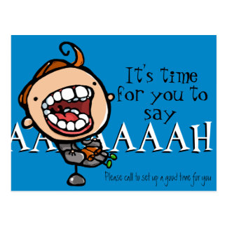 Dental appointment reminder customizable postcard