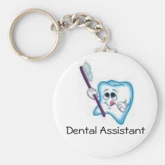 Dental Assistant Basic Round Button Keychain