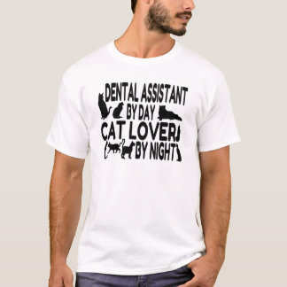 Dental Assistant Cat Lover T-Shirt