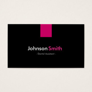 Dental Assistant Modern Rose Pink Business Card