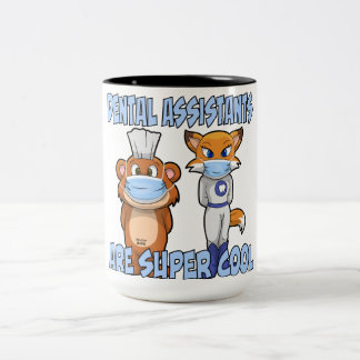 Dental Assistants Are Super Cool Two-Tone Coffee Mug
