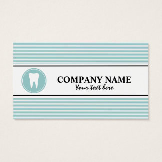 Dental care business card template with tooth logo