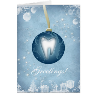 Dental Christmas Card Ice Blue